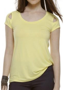 Blusa Manga Curta Amarela