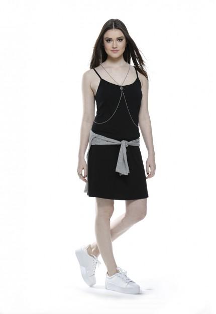 Vestido Curto Gelo Quente Preto